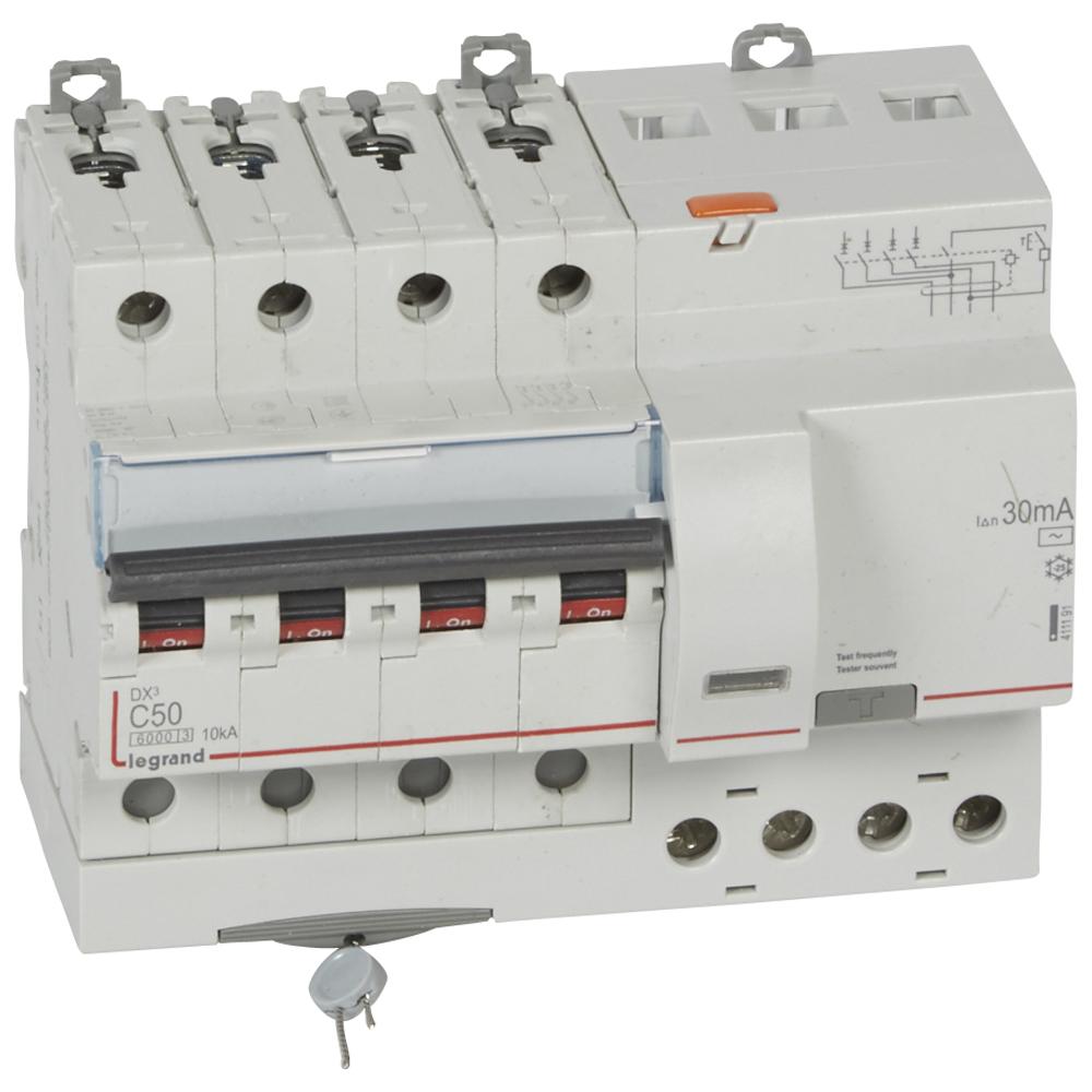 АВДТ DX3 4П C50А 30MA-AC 7м