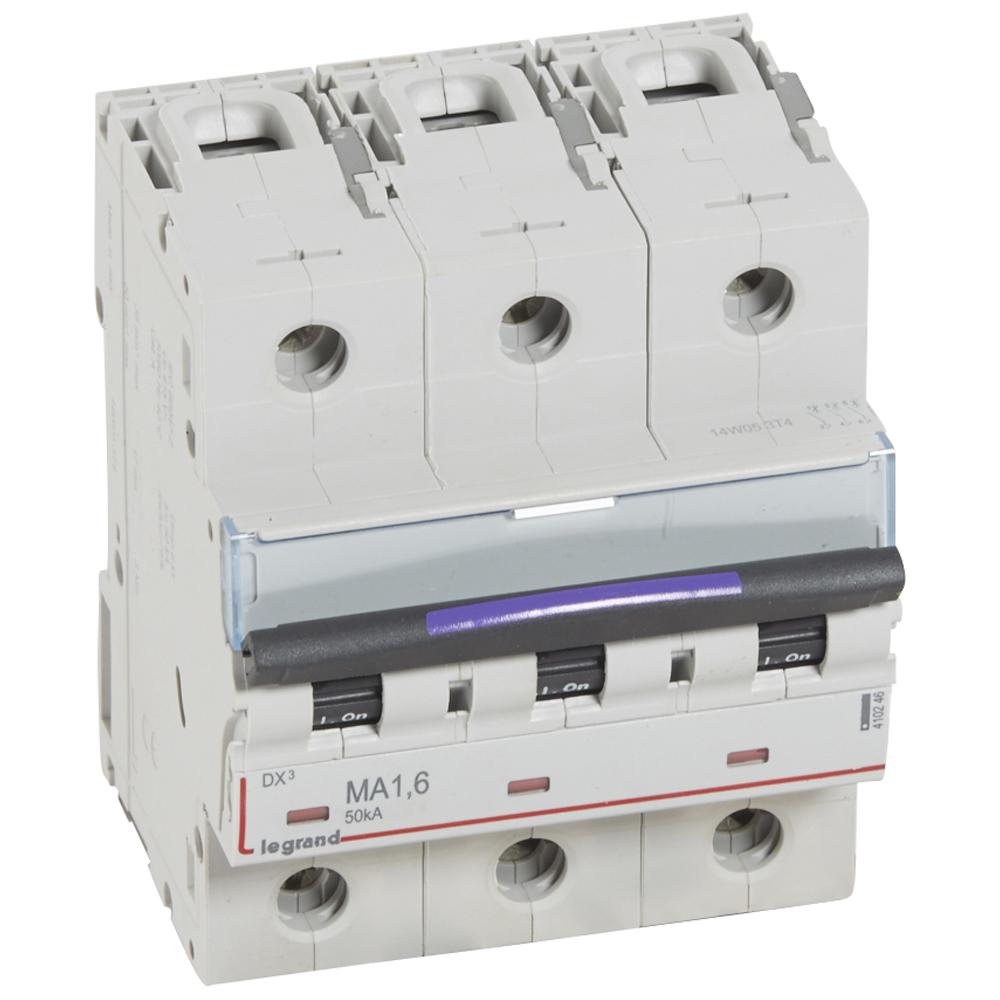 DX3 авт.выкл. 50кА 1,6А 3п MA