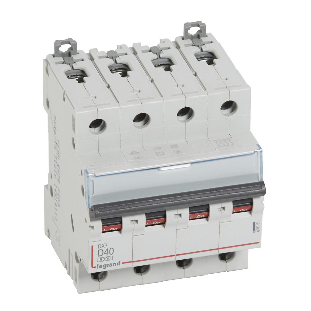 Авт.выкл.DX3 4П D40A 6000/10kA – Legrand