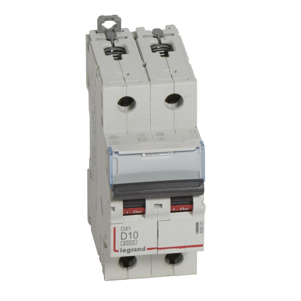 Авт.выкл.DX3 2П D10A 6000/10kA