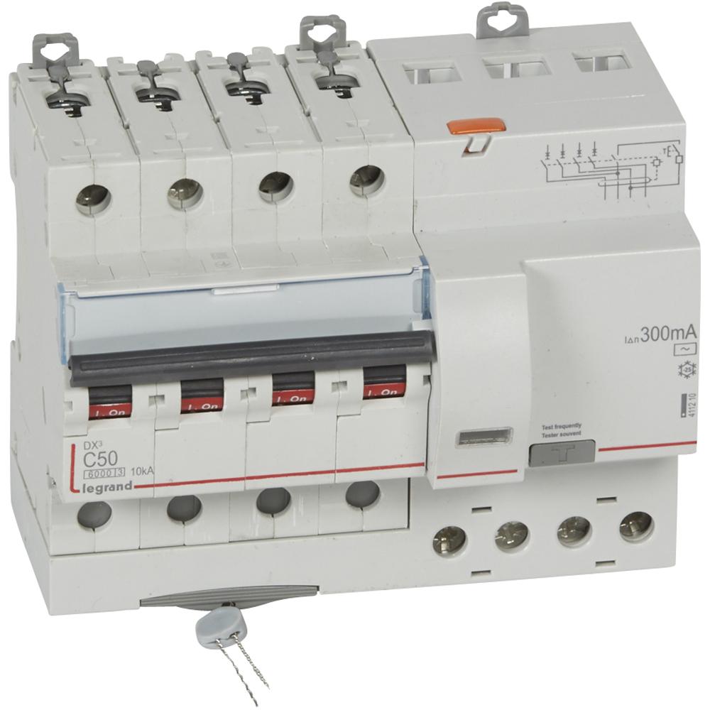 АВДТ DX3 4П C50А 300MA-AC 7м