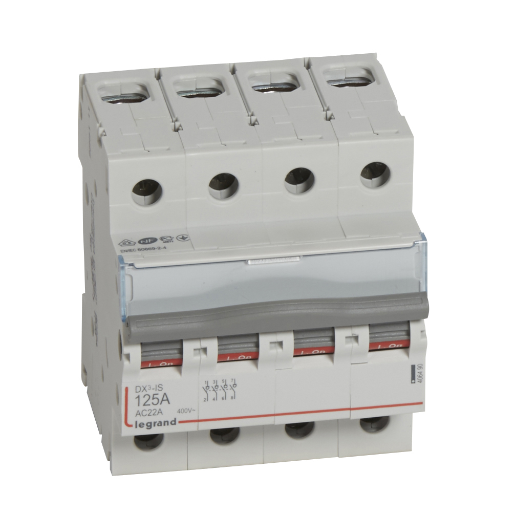 Выкл.разъед.DX3 4П 125A