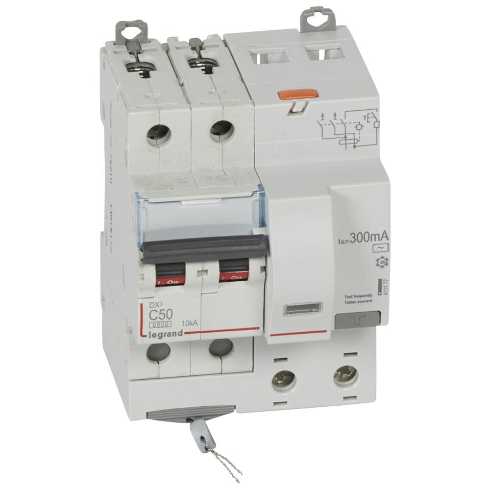 АВДТ DX3 2П C50А 300MA-AC 4м