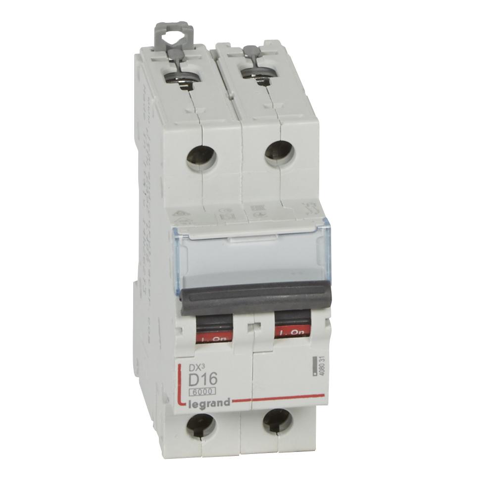Авт.выкл.DX3 2П D16A 6000/10kA