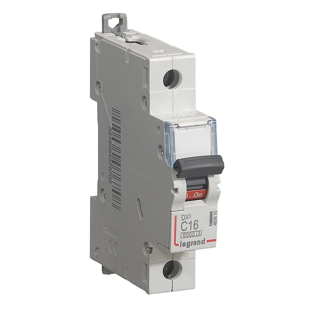 Автоматический выключатель DX³ 6000 - 10 кА - тип характеристики C - 1П - 230/400 В~ - 16 А