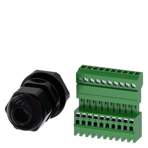 Metric screw connection M25 for routing the Round cable into IO link housing, for plastic or metal Enclosure with 4-6 control points, including 10-pol