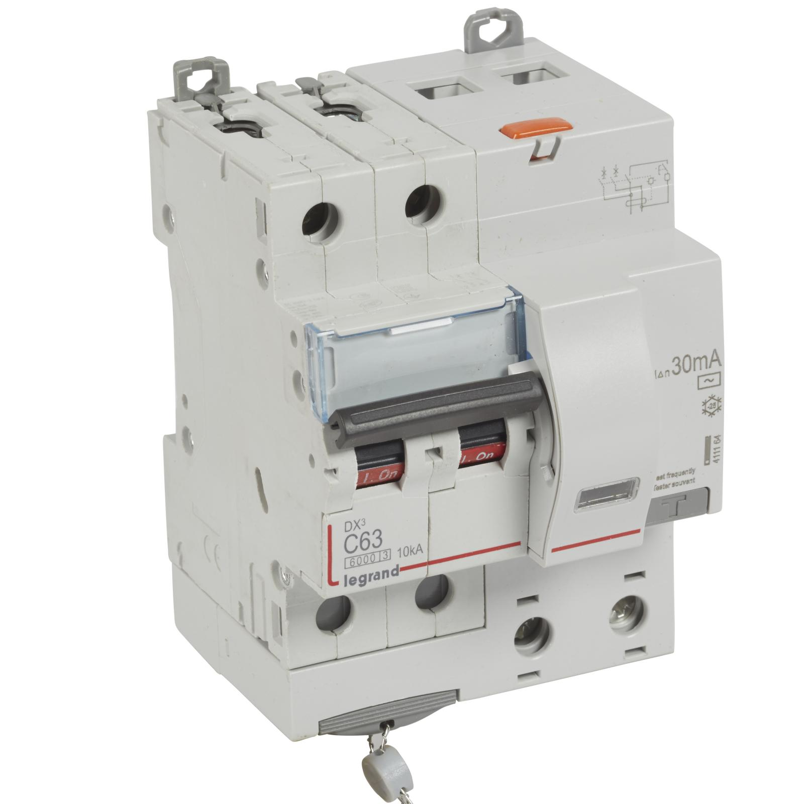 АВДТ DX3 2П C63А 30MA-AC 4м