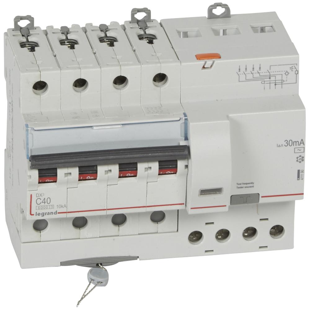 АВДТ DX3 4П C40А 30MA-AC 7м