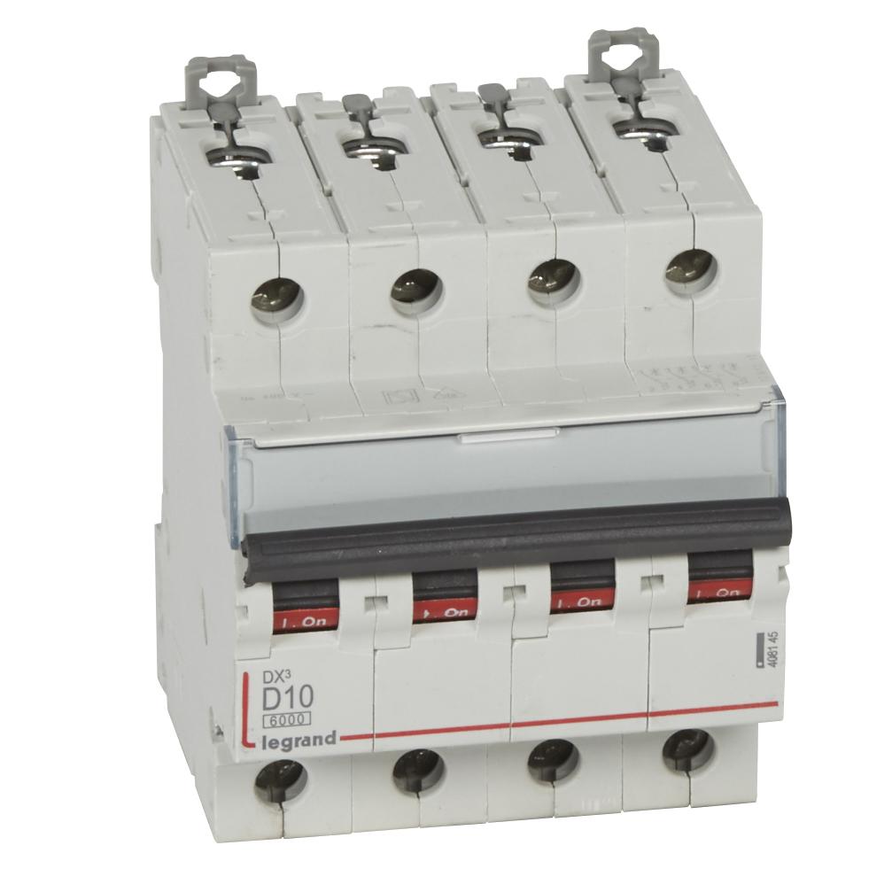 Авт.выкл.DX3 4П D10A 6000/10kA