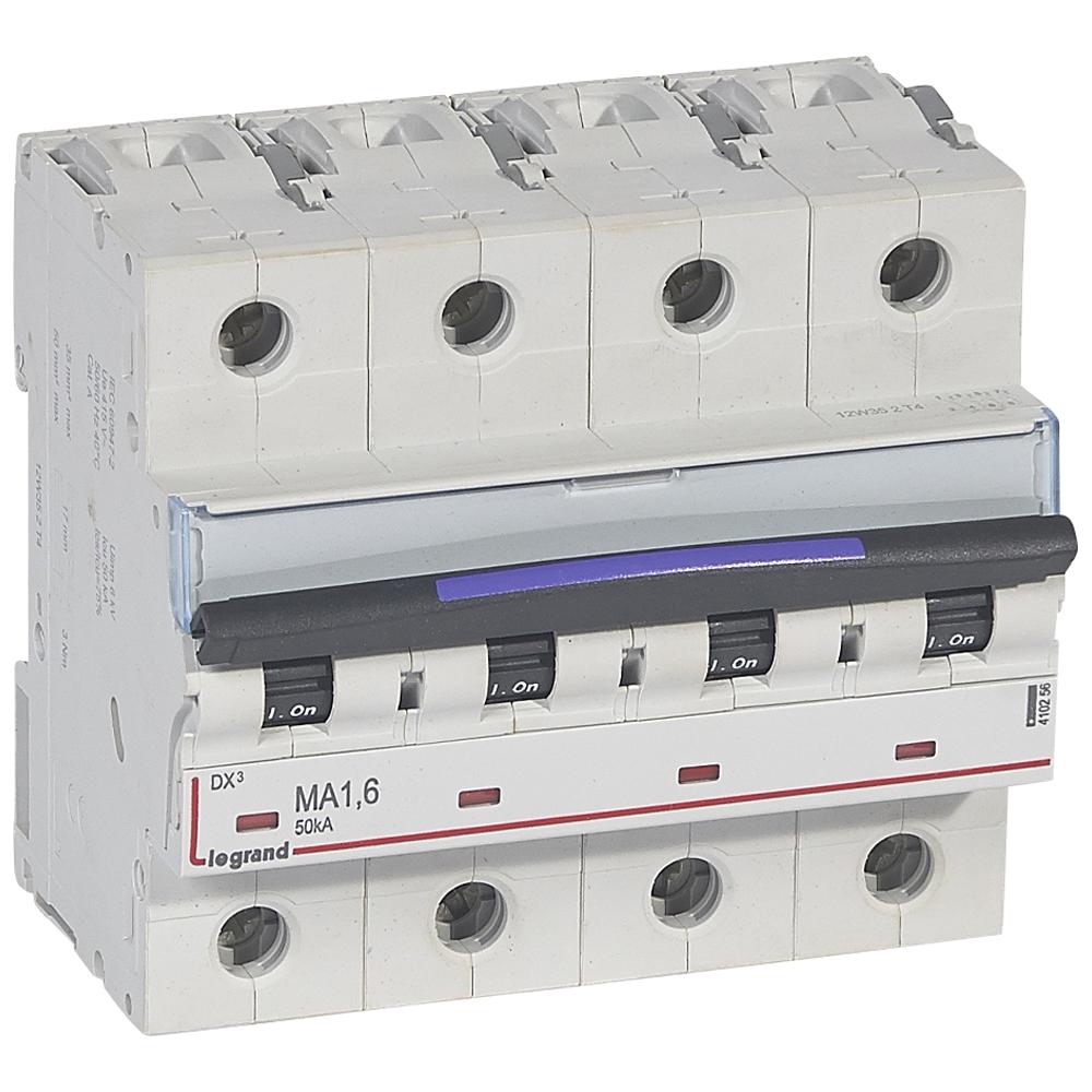 DX3 авт.выкл. 50кА 1,6А 4п MA