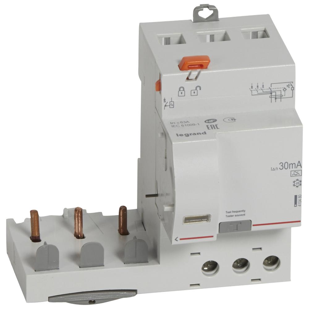 Диф.блок DX3 63A 3П 30mA-A – Legrand