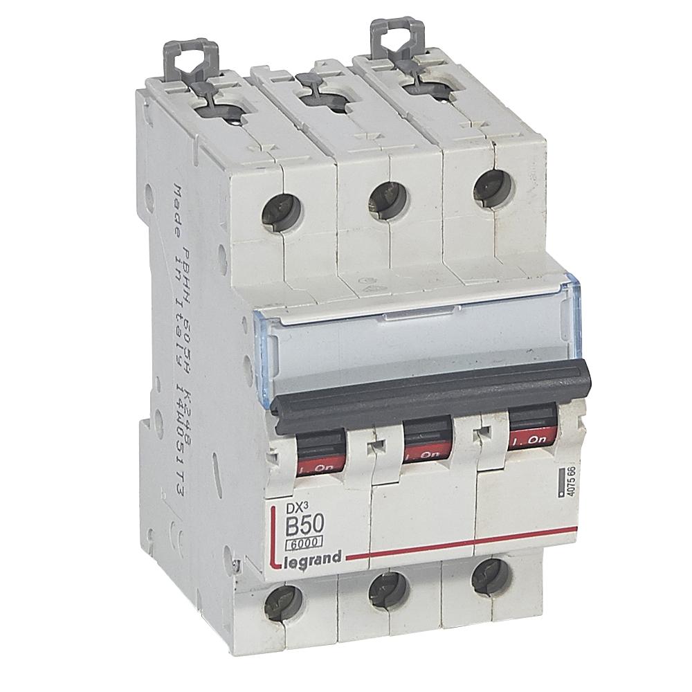 Авт.выкл.DX3 3П B50A 6000/10kA – Legrand