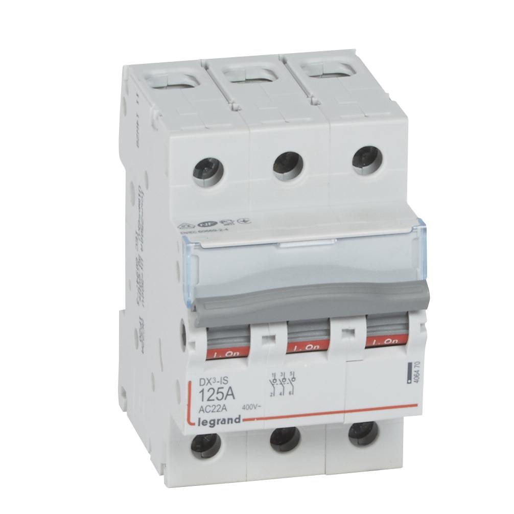 Выкл.разъед.DX3 3П 125A