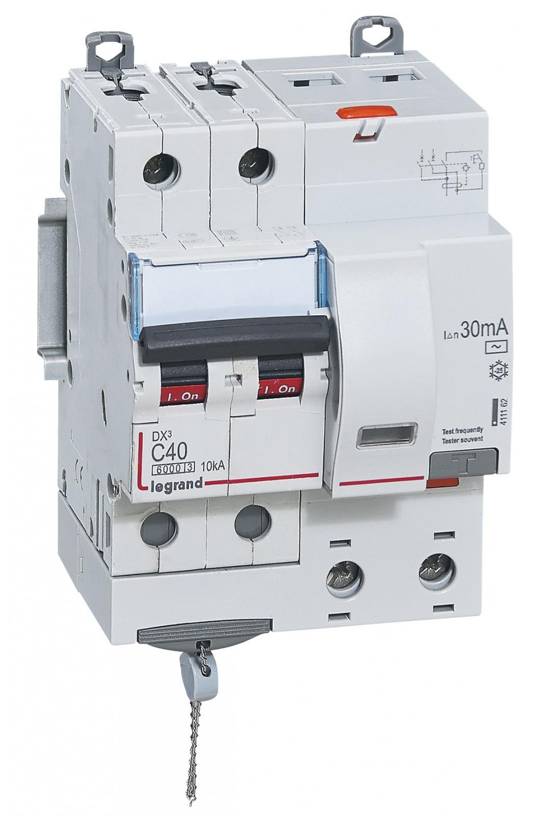 АВДТ DX3 2П C40А 30MA-AC 4м – Legrand