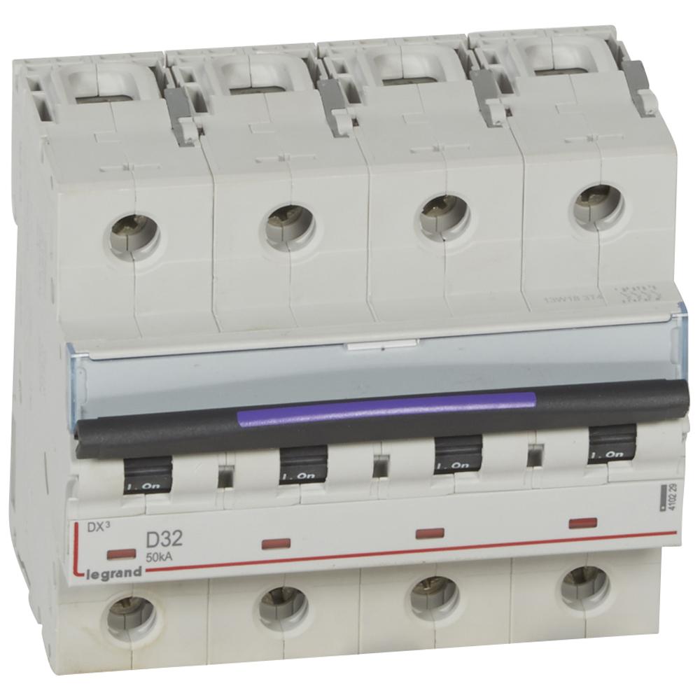 DX3 авт.выкл. 50кА 32А 4п D
