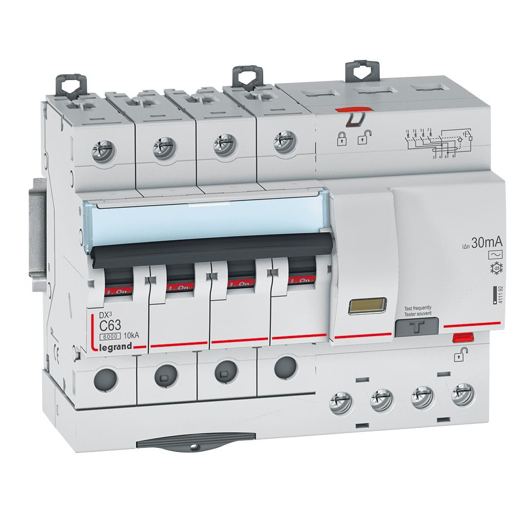 АВДТ DX3 4П C63А 30MA-AC 7м