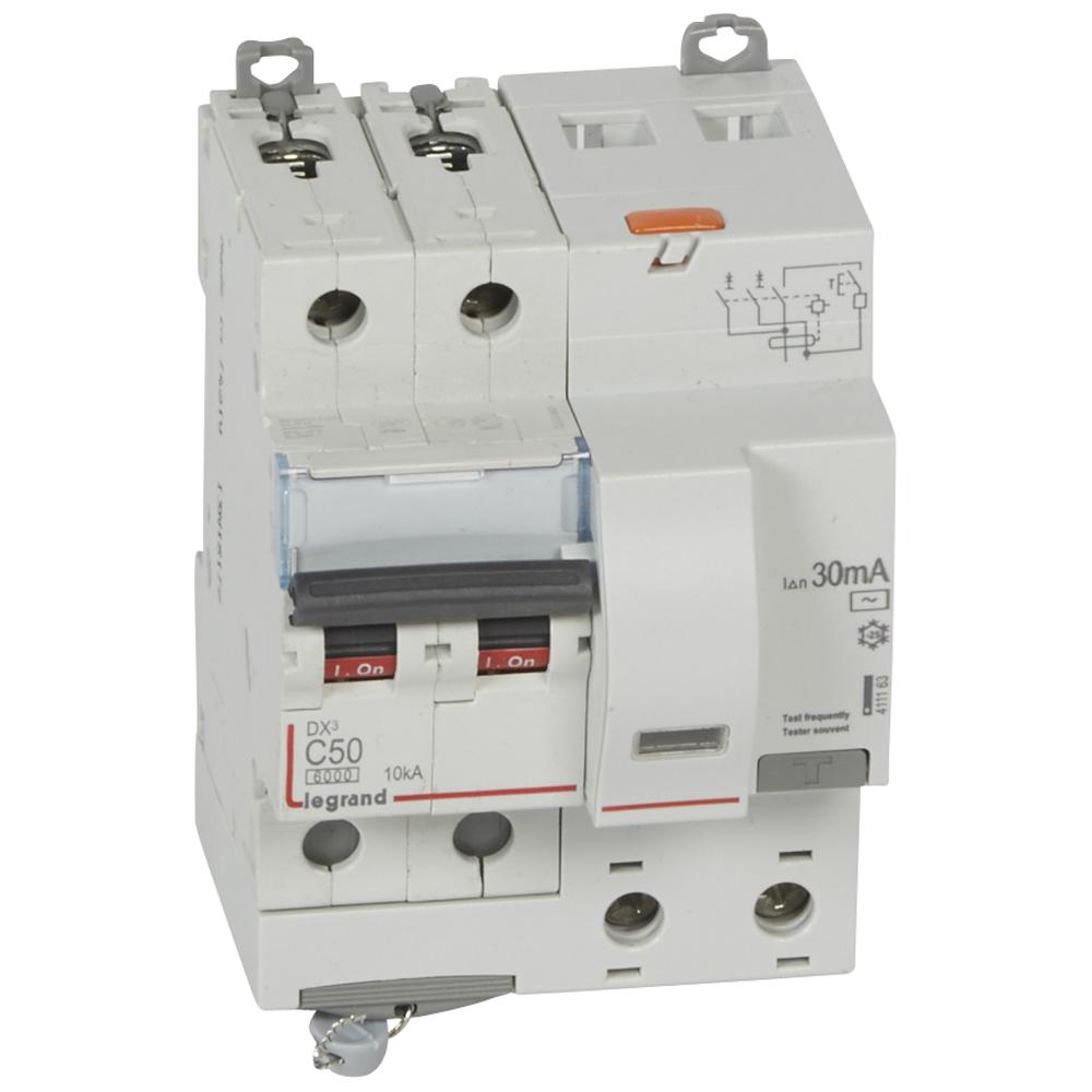 АВДТ DX3 2П C50А 30MA-AC 4м