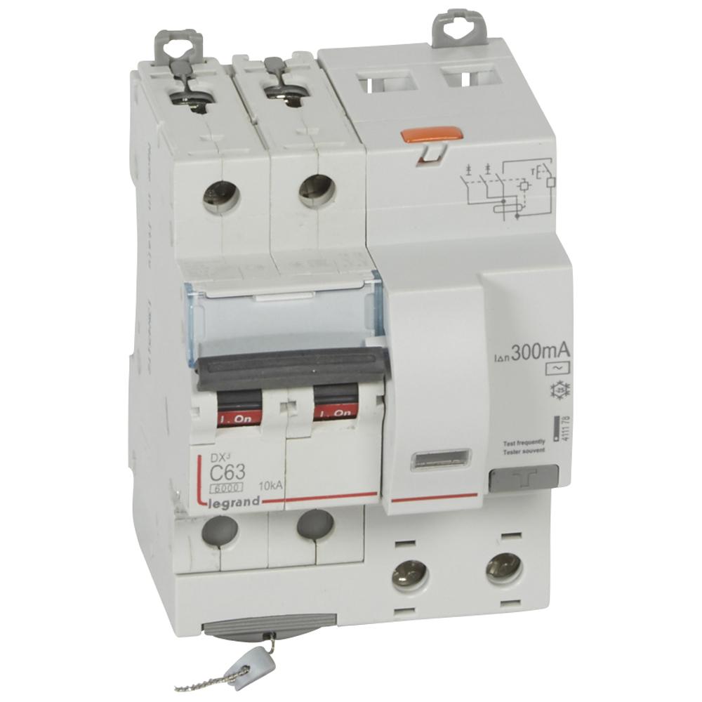АВДТ DX3 2П C63А 300MA-AC 4м