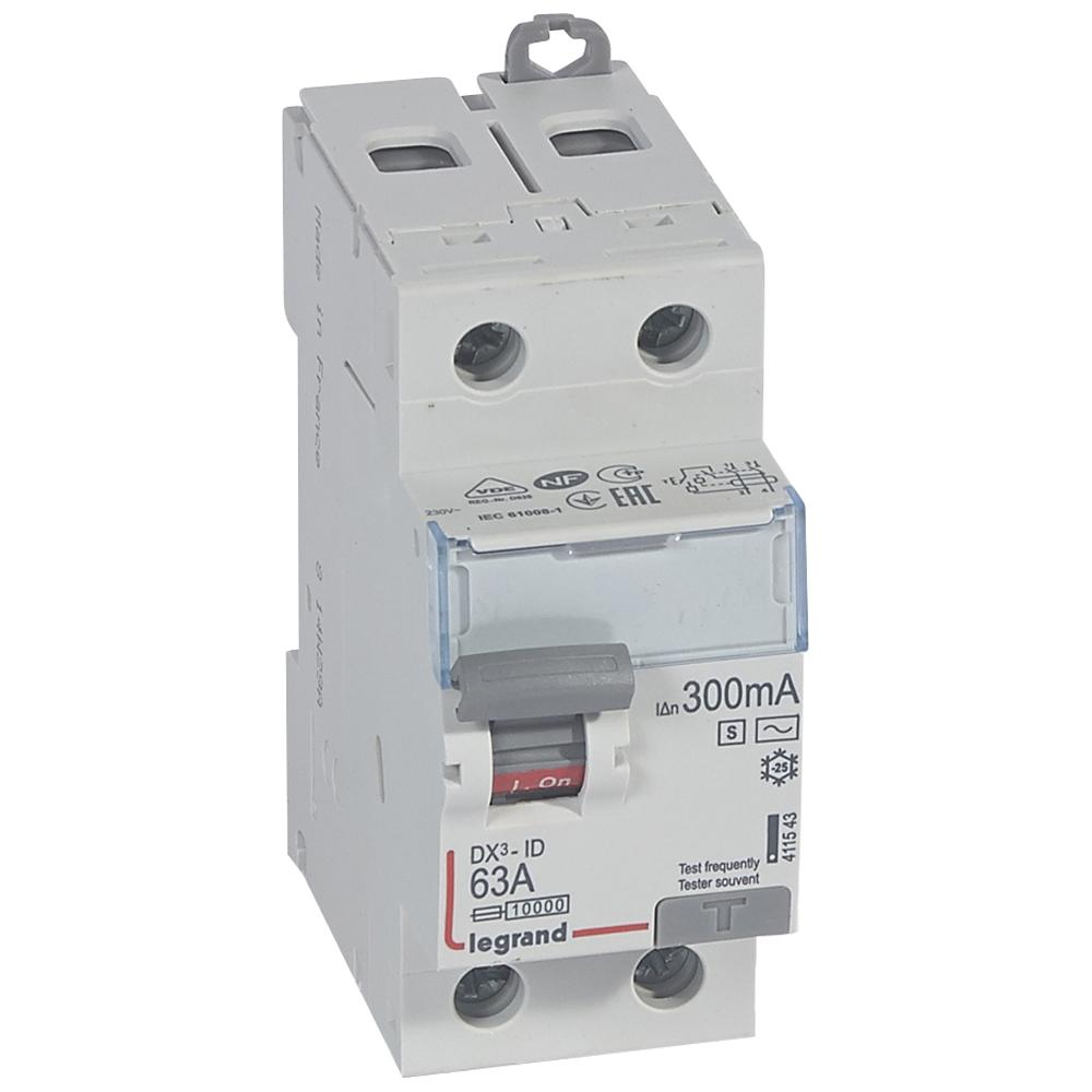 ВДТ DX3 2П 63А 300мА-AC-S