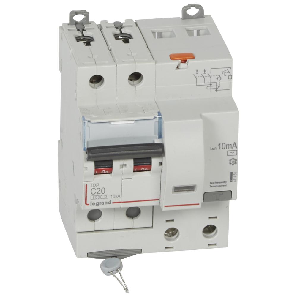 АВДТ DX3 2П C20А 10MA-AC 4м – Legrand