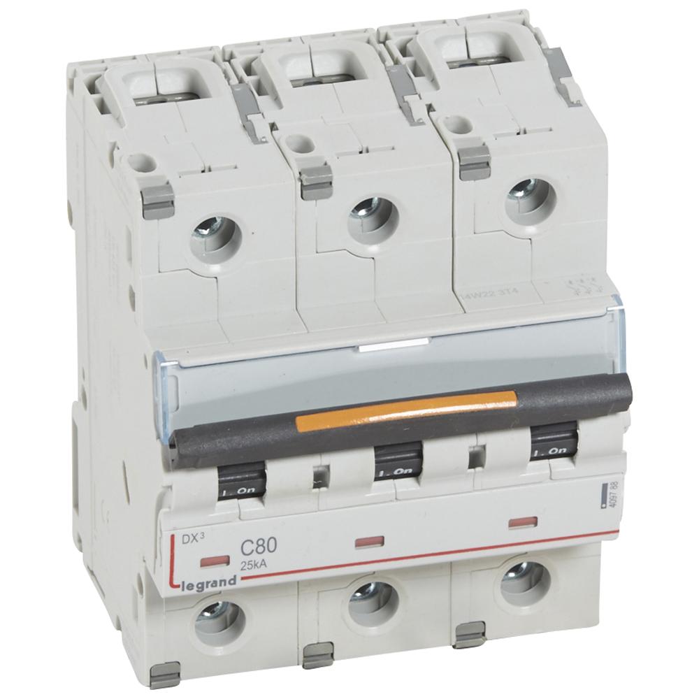Авт.выкл.DX3 3П C80 25кА