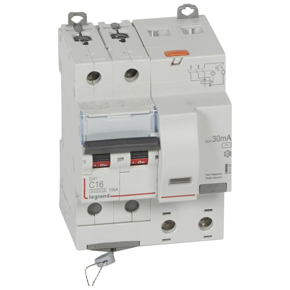 АВДТ DX3 2П C16А 30MA-AC 4м