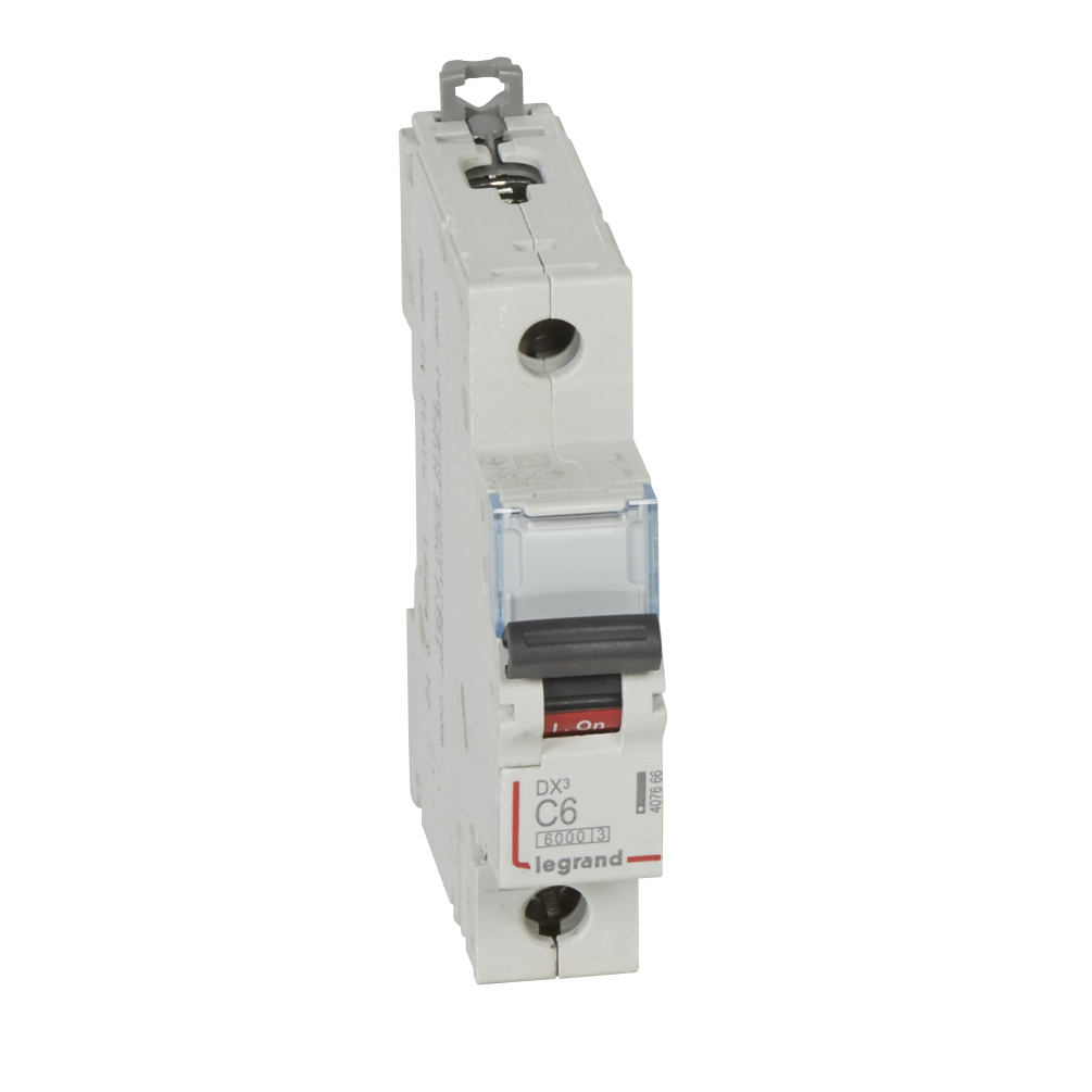 Автоматический выключатель DX³ 6000 - 10 кА - тип характеристики C - 1П - 230/400 В~ - 6 А