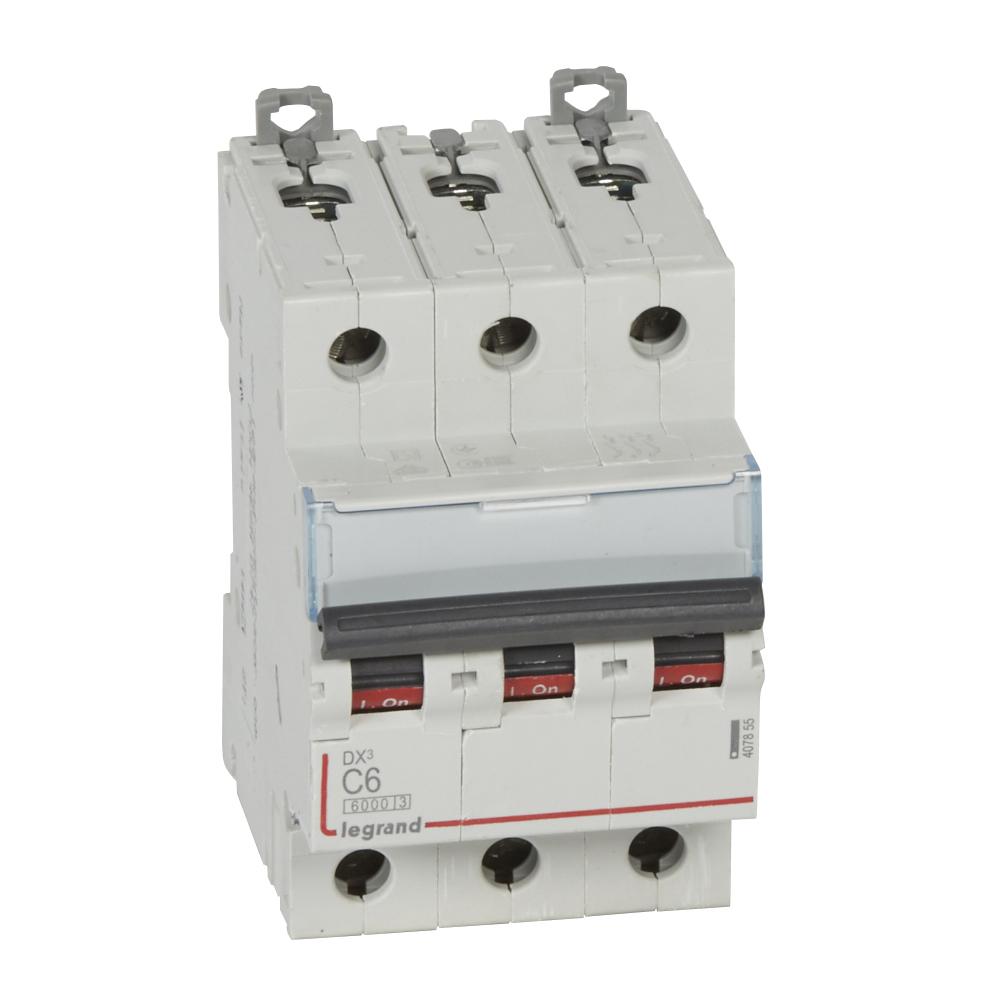 Авт.выкл.DX3 3П С6A 6000/10kA