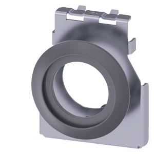 Adapter for installation of actuators and signaling units, 22 mm, in a mounting drill hole 30.5 mm, Metal, matte, with seal