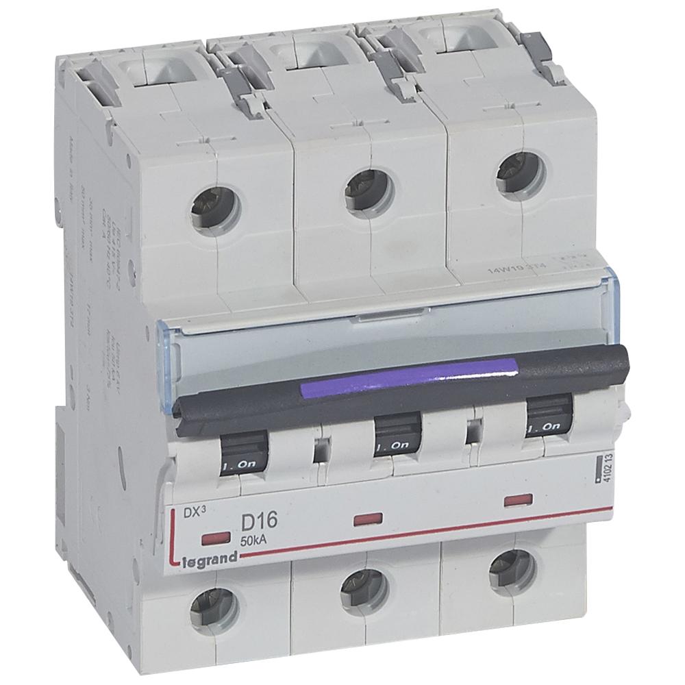 DX3 авт.выкл. 50кА 16А 3п D