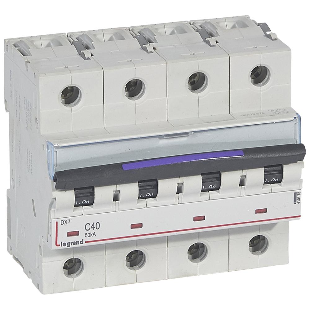 DX3 авт.выкл. 50кА 40А 4п C