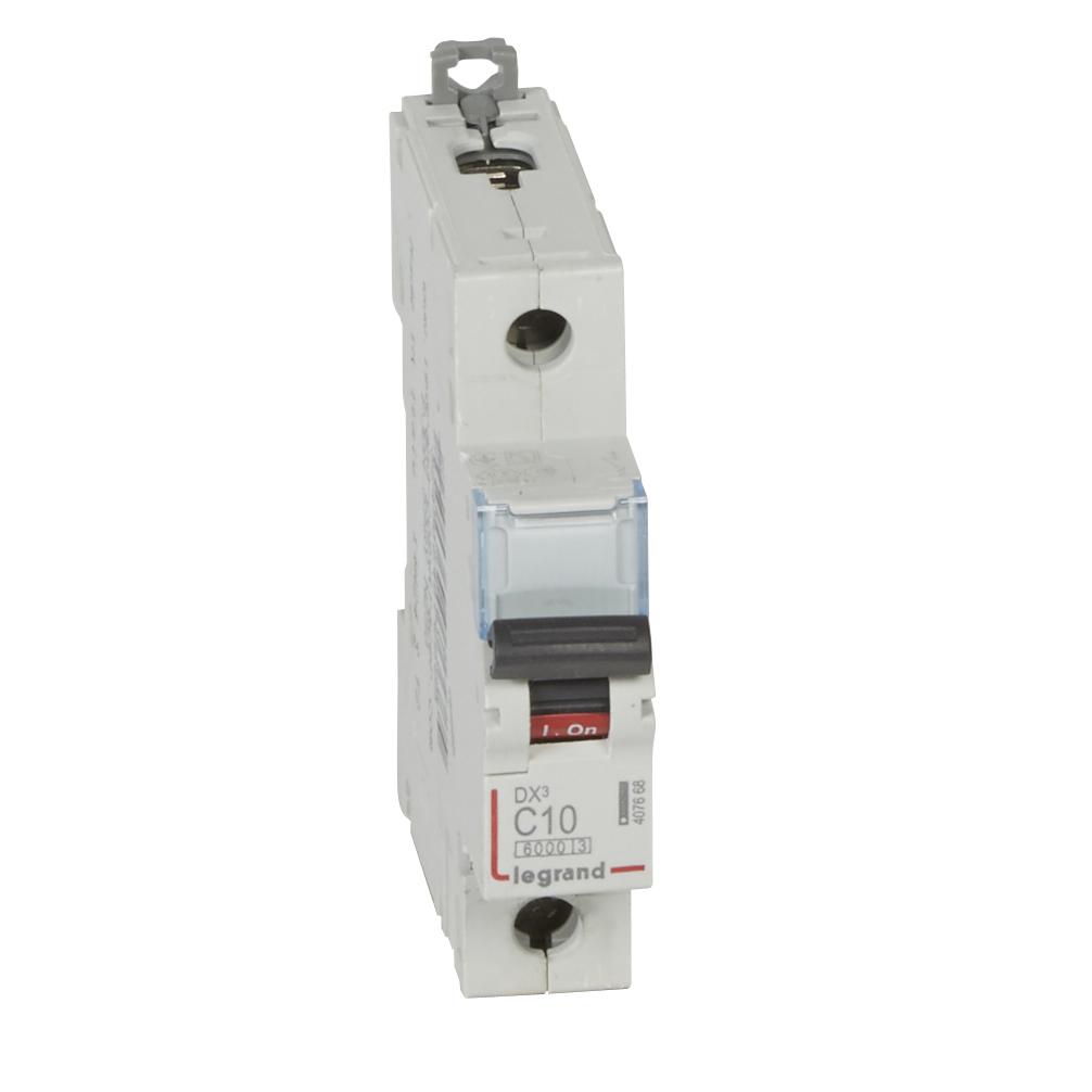 Автоматический выключатель DX³ 6000 - 10 кА - тип характеристики C - 1П - 230/400 В~ - 10 А